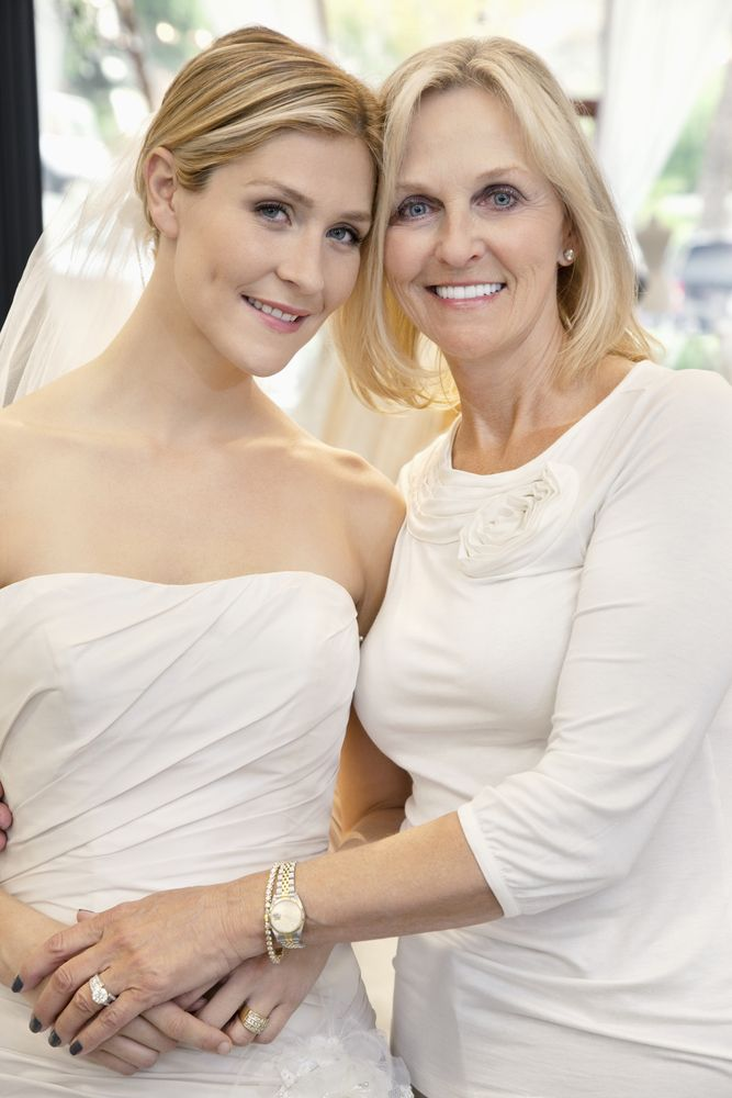 Should the Mom of the Bride's Dress Match the Bridal Party's Colors?